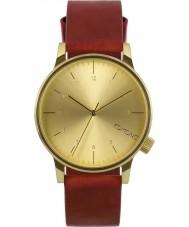 Komono KOM-W2250 Mens Winston Regal Red Leather Strap Watch
