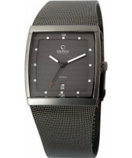 Obaku V102GDTJMJ Mens Grey IP Titanium Mesh Bracelet Watch