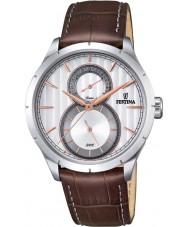 Festina F16892-2 Mens Retro Brown Leather Strap Watch