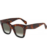 Celine Ladies CL 41090-S AEA Z3 Havana Black Sunglasses
