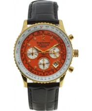 Krug Baümen 400212DS Air Traveller Orange Dial Black Strap