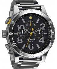 Nixon A486-000 Mens 48-20 Silver Steel Bracelet Chronograph Watch