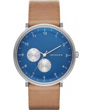 Skagen SKW6167 Mens Hald Brown Leather Strap Watch