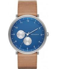Skagen SKW6167 Mens Hald Brown Leather Strap Watch