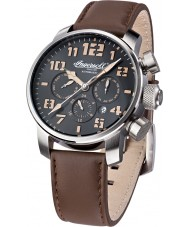 Ingersoll IN1224SBK Mens Colby Brown Leather Strap Watch