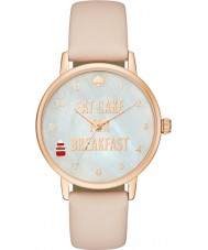 Kate Spade New York 1YRU0892 Ladies Metro Vachetta Leather Strap Watch