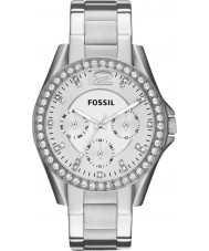 Fossil ES3202 Ladies Riley Silver Steel Chronograph Watch