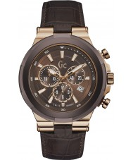 Gc Y23009G4 Mens Structura Brown Chronograph Watch