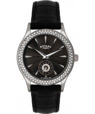 Rotary LS02908-04 Ladies Stone Set Black Watch