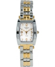 Krug Baümen 1963DMT Tuxedo Two Tone 4 Diamond White Dial Steel-Two Tone Strap