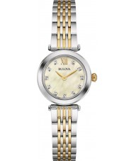 Bulova 98S154 Ladies Diamond Two Tone Steel Bracelet Watch