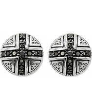 Thomas Sabo H1776-051-11 Silver Stud Earrings with Black Zirconia Pave Cross