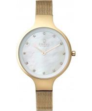 Obaku V173LXGGMG Ladies Gold Plated Mesh Bracelet Watch