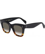 Celine Ladies CL 41090-S FU5 Z3 Black Tortoiseshell Sunglasses
