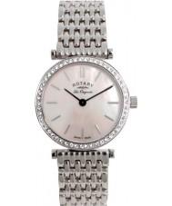 Rotary LB90003-07 Ladies Les Originales Pink Crystals Steel Watch