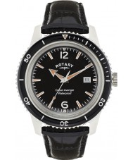 Rotary GS02694-04 Mens Timepieces Ocean Avenger Black Leather Strap Watch