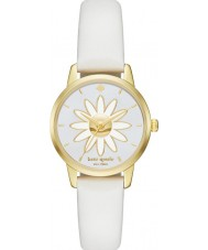 Kate Spade New York KSW1086 Ladies Metro White Leather Strap Watch