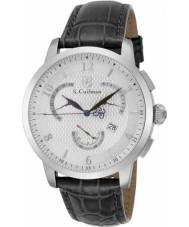 S Coifman SC0228 Mens Black Leather Chronograph Watch