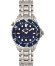 Rotary AGB00068-W-05 Mens Aquaspeed Blue Steel Watch