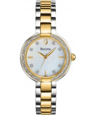 Bulova 98R172 Ladies Diamond Two Tone Steel Bracelet Watch
