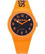 Superdry SYG164O Urban Orange Silicone Strap Watch