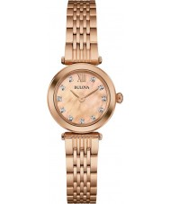 Bulova 97S116 Ladies Diamond Rose Gold Plated Bracelet Watch