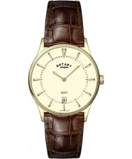 Rotary GS08203-03 Mens Ultra Slim Champagne Brown Watch