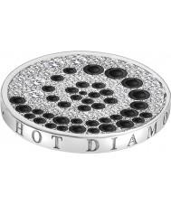 Emozioni Silver Tone Mosaico Espiral Coin