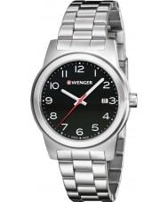 Wenger 01-0441-145 Mens Field Color Silver Steel Bracelet Watch