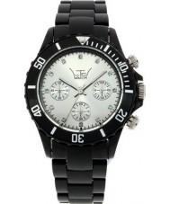 LTD Watch LTD-030202 Silver Black Plastic Watch