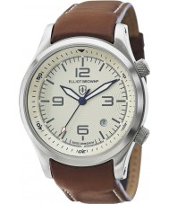 Elliot Brown 202-003 Mens Canford Brown Leather Strap Watch
