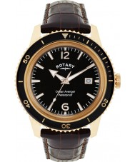 Rotary GS02696-04 Mens Timepieces Ocean Avenger Brown Leather Strap Watch