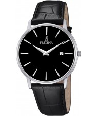 Festina F6831-4 Mens Classic Black Leather Strap Watch