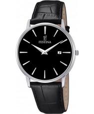 Festina F6831-4 Mens Classic Black Leather Strap Watch