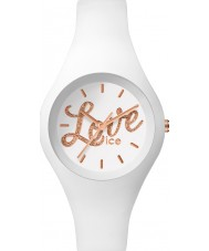 Ice-Watch LO.WE.GL.S.S.16 Ladies Ice-Love Small White Silicone Strap Watch