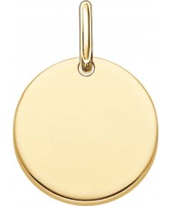 Thomas Sabo LBPE0001-413-12 Ladies Love Bridge 18ct Yellow Gold Plated Pendant