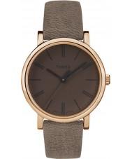 Timex TW2P96300 Ladies Originals Tonal Brown Leather Strap Watch
