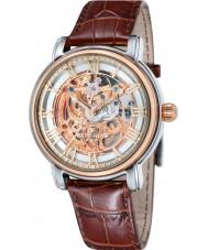 Thomas Earnshaw ES-8040-04 Mens Longcase 43mm Brown Leather Strap  Watch
