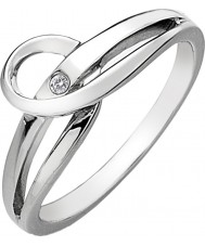 Hot Diamonds DR119-S Ladies Go With The Flow Silver Tone Forever Ring - Size S