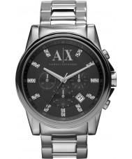 Armani Exchange AX2092 Mens Black Silver Chronograph Dress Watch
