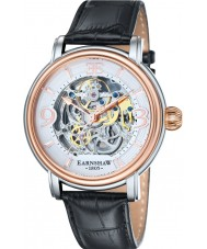 Thomas Earnshaw ES-8011-06 Mens Longcase Black Croco Leather Strap Watch