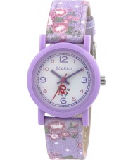 Tikkers TK0103 Girls Floral Purple Watch