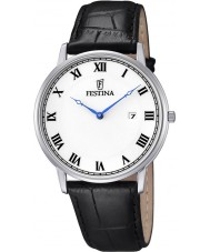 Festina F6831-3 Mens Classic Black Leather Strap Watch