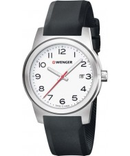 Wenger 01-0441-148 Mens Field Color Black Silicone Strap Watch