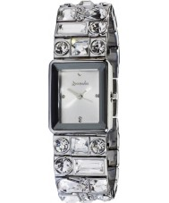 Accessorize B1022 Ladies Silver Multi Stone Watch