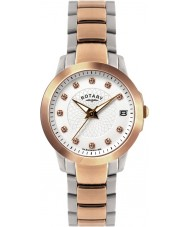 Rotary LB02837-41 Ladies Timepieces Stone Set Two Tone Steel Watch