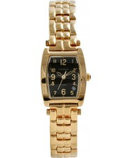 Krug Baümen 1965KL-G Ladies Tuxedo Black Gold Watch
