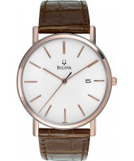 Bulova 98H51 Mens Dress White Brown Watch