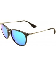 Ray-Ban RB4171 54 Erika Black 601-55 Blue Mirrored Sunglasses