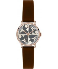 Orla Kiely OK2082 Ladies Patricia Cream Brown Leather Strap Watch